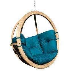 Fotel hamakowy drewniany, Zielony Swing Chair Single