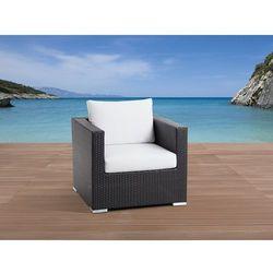 Pojedyńczy rattanowy fotel z podłokietnikami i poduchami - XXL (7081452999688)