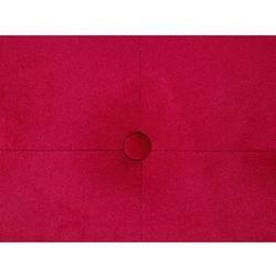Beliani Puf tapicerowany ø 55 cm czerwony tampa