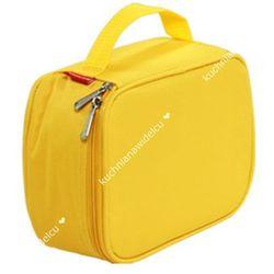 Termos z żelowym wkładem chłodzącym + 1 pojemniki na żywność |  coolbag - odcienie żółtego i złota, marki Tescoma