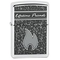 Zapalniczka ZIPPO Lifetime Friends, High Polish Chrome (Z22674)