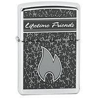 Zapalniczka ZIPPO Lifetime Friends, High Polish Chrome (Z22674) - sprawdź w wybranym sklepie