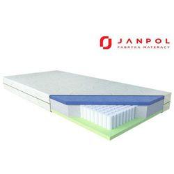 Janpol dione – materac multipocket, sprężynowy, rozmiar - 140x190, pokrowiec - lino sleeping house - najle
