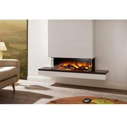 Kominek do montażu ściennego flamerite fires exo 900 12 x 10 cb z nadbudową. efekt nitra flame - 20 kolorów ognia- promocja marki Flamerite fires - nowość 2021