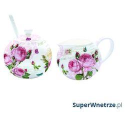Cukiernica z łyżeczką +mlecznik do kawy Nuova R2S Romantic