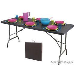 Stół cateringowy bankietowy ogrodowy 180cm ratan marki Goodhome