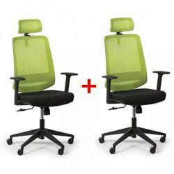 Krzesło biurowe rich 1 + 1 gratis, zielony marki B2b partner