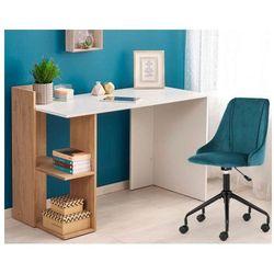 Skandynawskie biurko multo - dąb złoty - biały marki Producent: elior