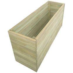 Vidaxl Donica ogrodowa, impregnowane drewno sosnowe, 150x50x77cm