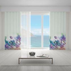 Zasłona okienna na wymiar - TROPICAL ORCHID