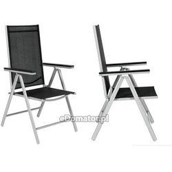 Krzesło ogrodowe aluminiowe MODENA - Czarne - produkt dostępny w eDomator.pl