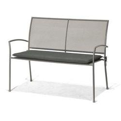 D2.design Ławka 2-osobowa z szarą poduszką plantagoo, kategoria: ławki ogrodowe