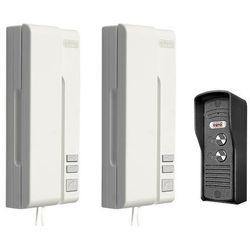 """Domofon """"eura"""" adp-33a3 """"duo bianco"""" 2-rodzinny biały,mała kaseta zewnętrzna marki Eura-tech"""