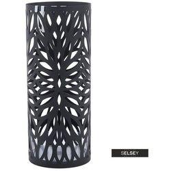 SELSEY Stojak na parasole Laylani czarny okrągły (5903025991467)