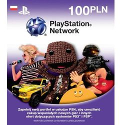 Karta PlayStation Network 100zł (PS3, PS4, PS Vita) - Klucz