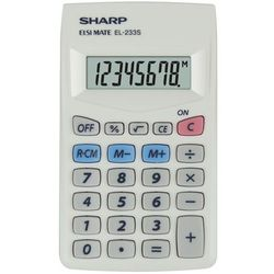 Sharp Kalkulator handheld box el233s srebrny (4974019023014)