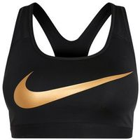 Nike Performance PRO CLASSIC Biustonosz sportowy black/metallic gold, kolor czarny