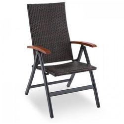 Blumfeldt korsika składane krzesło z podłokietnikami 58,5x103x75 cm technorattan aluminium