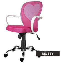 fotel biurowy mia różowy marki Selsey