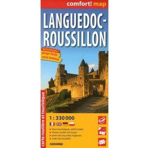 ExpressMap Langwedocja Roussillon mapa samochodowa turystyczna laminowana 1:300 000, Expressmap Polska Sp.z O.o.