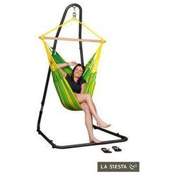Zestaw hamakowy: fotel hamakowy sonrisa ze stojakiem mediterraneo, zielono-żółty snc14mea12 marki La siesta