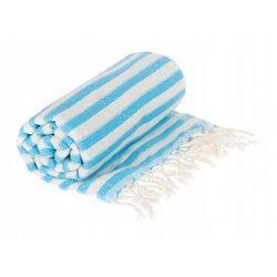 Sauna Łażnia - Hammam Ręcznik 100% Bawełna Zebra 7 Turkus, A859-162FB
