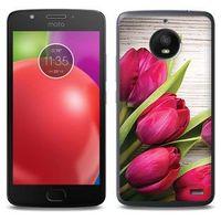 Foto case - motorola moto e4 - etui na telefon foto case - czerwone tulipany marki Etuo.pl