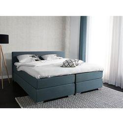 Łóżko szaro-zielone - 180x200 cm - kontynentalne - podwójne - president marki Beliani