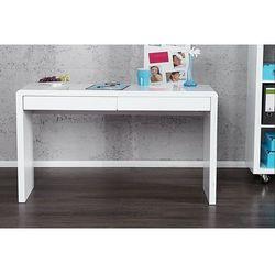 Biurko Tite 120 cm białe (wysoki połysk) - sprawdź w wybranym sklepie