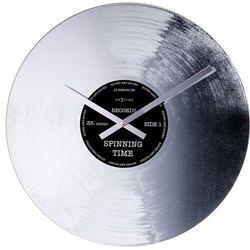 Zegar ścienny Nextime Silver Record, kolor szary