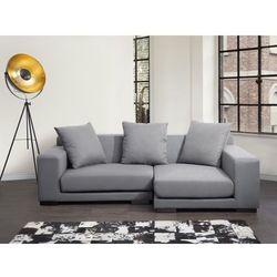 Sofa narozna L - tapicerowana - jasnoszara - CLOUD, Beliani z Beliani