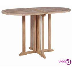 vidaXL Składany stół jadalniany z litego drewna tekowego, 120x70x75 cm (8718475699934)