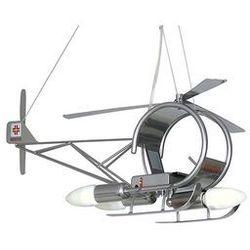 Lampa wisząca dziecięca Helikopter 3xE14/60W srebrna, towar z kategorii: Oświetlenie dla dzieci