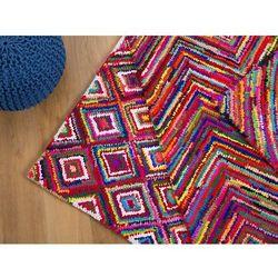 Dywan - kolorowy - poliester - bawełna - shaggy - 140x200 cm - KAISERI (7081457801047)