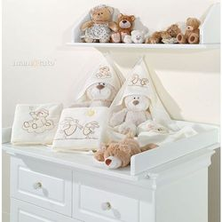 kocyk polarowy wesołe zajączki ecru marki Mamo-tato
