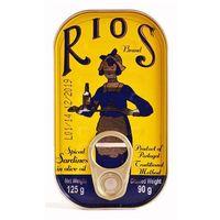 Portugalskie sardynki pikantne w oliwie z oliwek RIOS 125g