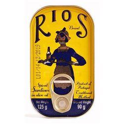 Rios Portugalskie sardynki pikantne w oliwie z oliwek  125g