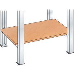 Stół warsztatowy w systemie modułowym, półka z multipleksu, grub. 20 mm, do szer