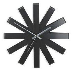 Zegar Ribbon czarny MODERN HOUSE bogata chata, kolor czarny