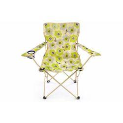 Zestaw krzeseł 2 szt. składanych beżowych - kwiatowy wzór