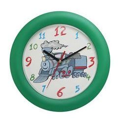 Zegar ścienny kolorowy lokomotywa, kolor wielokolorowy