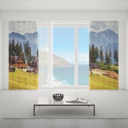 Zasłona okienna na wymiar komplet - HIGHLANDER HOUSES