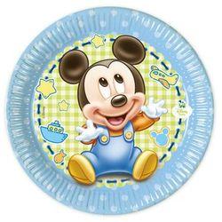 Talerzyki urodzinowe Mały Mickey - 20 cm - 8 szt. (5201184843451)