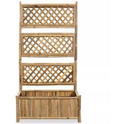 Donica z pergolą, bambus, 70 cm marki Vidaxl