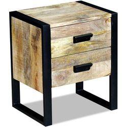 stolik boczny, szafka z 2 szufladami drewna mango 43x33x51 cm marki Vidaxl