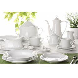 Chodzież biała kamelia serwis obiadowy i kawowy 108 części dla 12 osób c000 marki Chodzież / kamelia