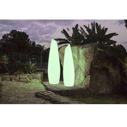 lampa ogrodowa fredo 170 solar biała - led, sterowanie pilotem marki New garden