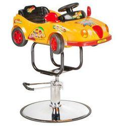 Dziecięcy Fotel Fryzjerski Autko Bw-602 Żółty