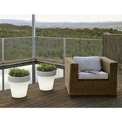 Sofa.pl New garden donica magnolia 45 c biała - led