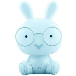 Lampka nocna dziecięca zwierzak Polux Królik 1x2,5W LED niebieska, 3 poziomy świecenia 307705, 307705